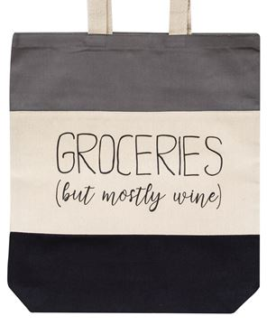 Picture of Groceries But Mostly Wine Tote