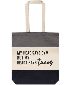 Picture of My Head Says Gym Tote
