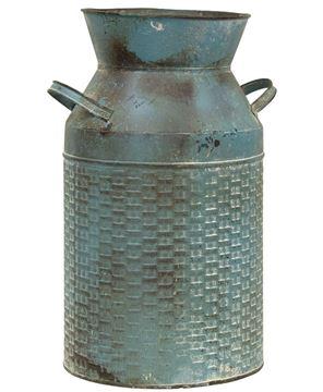 Picture of Vintage Blue Basketweave Milk Can