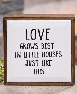 Picture of Love Grows Best Framed Tile Sign