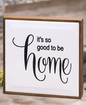 Picture of So Good To Be Home Framed Tile Sign