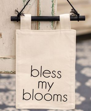 Picture of Bless My Blooms Fabric Hanging