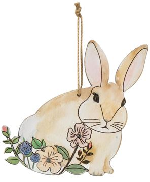 Picture of Vintage Bunny Wood Ornament