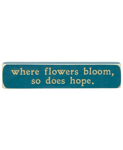 Picture of Where Flowers Bloom Laser Cut Block