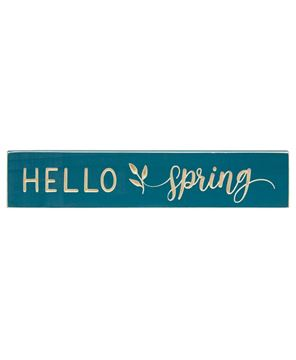Picture of Hello Spring Engraved Sign, 18""