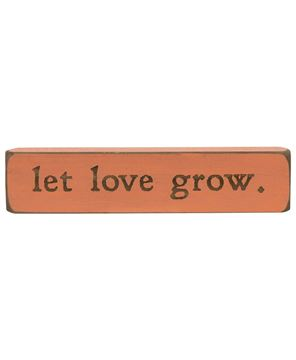 Picture of Let Love Grow Laser Cut Block