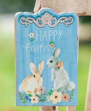 Picture of Happy Easter Bunny Wooden Sign