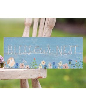 Picture of Bless Our Nest Spring Bird Sign