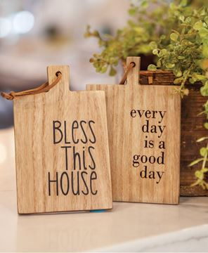 Picture of Bless This House Mini Cutting Board Ornament, 2/set