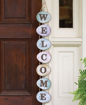 Picture of Welcome Watercolor Easter Egg Wall Hanging