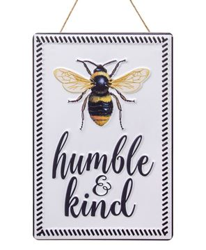 Picture of Bee Humble and Kind Metal Sign