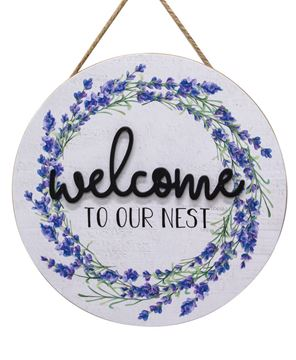 Picture of Welcome To Our Nest Wooden Wall Hanging