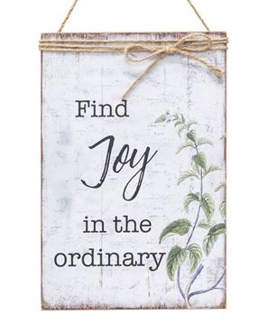 Picture of Find Joy In The Ordinary Jute Wrapped Sign