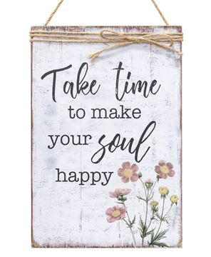 Picture of Make Your Soul Happy Jute Wrapped Sign
