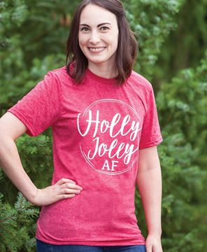 Picture of Holly Jolly AF Tee