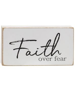 Picture of Faith Over Fear Rectangular Block, 3/set