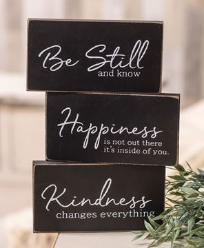 Picture of Kindness Changes Everything Wooden Block, 3/Set