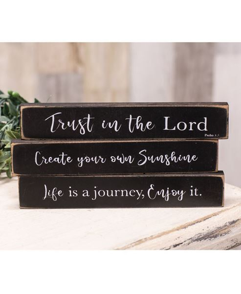 Picture of Trust in the Lord Mini Stick, 3/Set