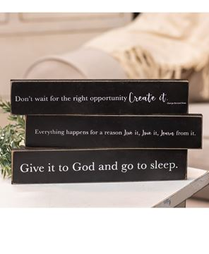 Picture of Give It To God Wooden Block, 3/Set