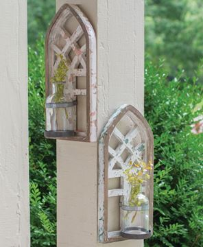 Picture of Architectural Arch Wall Vase, 2/Set