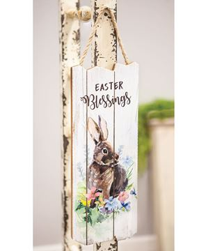 Picture of Easter Blessings Bunny Wooden Wall Hanging