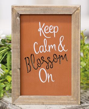 Picture of Keep Calm & Blossom On Framed Cutout Sign