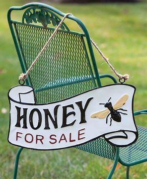 Picture of Honey For Sale Vintage Metal Hanger