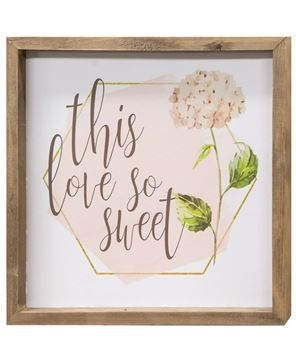 Picture of Love Lives Here Hydrangea Framed Sign, 2/Set