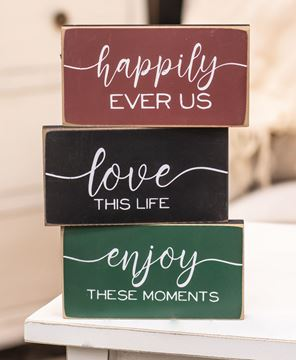 Picture of Happily Ever Us Wooden Block, 3/Set