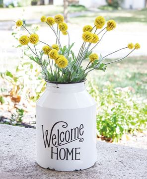 Picture of Welcome Home Metal Wall Milk Can