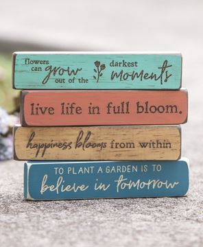 Picture of Happiness Blooms From Within Laser Cut Block