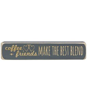 "Picture of Coffee + Friends Make the Best Blend Laser Cut Block, 8"""