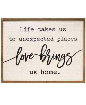 Picture of Love Brings Us Home Wall Sign