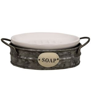Picture of Enamel Soap Dish w/ Carrier