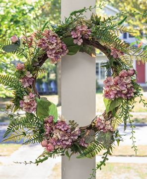 Picture of Mauve Hydrangea Wreath, 22""