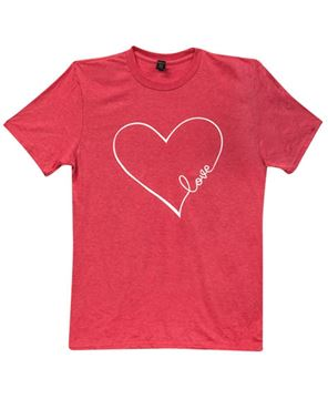 Picture of Love Heart T-Shirt, Heather Red, XXL