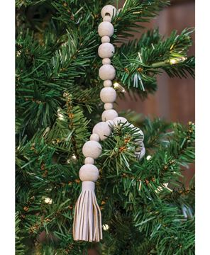 Picture of Distressed Bead Garland with Tassels