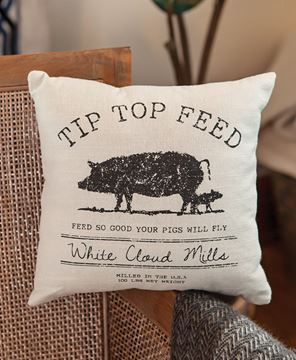 Picture of Tip Top Feed Farmhouse Pillow