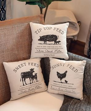 Picture of Sunny Feed Farmhouse Pillow