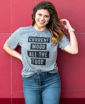 Picture of Current Mood All the Food T- Shirt - Heather Gray - XXL