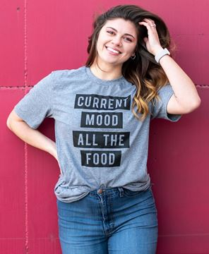 Picture of Current Mood All the Food T- Shirt - Heather Gray