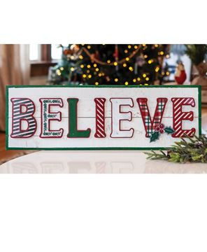 Picture of Believe Wooden Christmas Sign