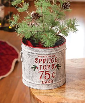 Picture of Spruce Tops Vintage Metal Bucket