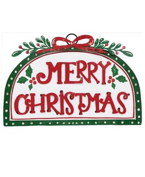 Picture of Merry Christmas Holly Sign
