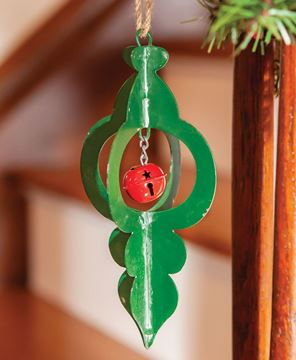 Picture of Green Metal Jingle Bell Ornament