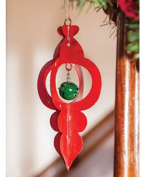 Picture of Red Metal Jingle Bell Ornament