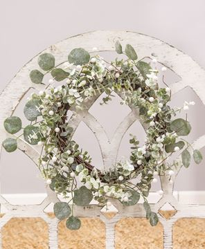 Picture of Glitter Frosted Eucalyptus Wreath