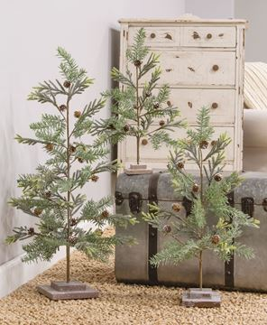 """Picture of 25"""" Glittered Tree w/ Glittered Base"""