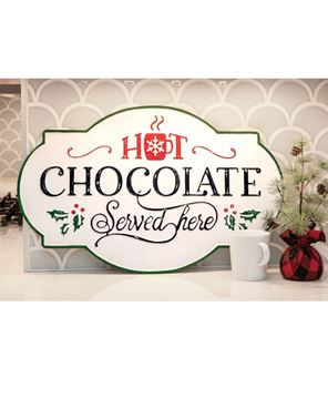 Picture of Hot Chocolate Iron Wall Sign