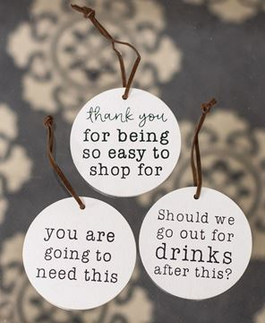 Picture of Easy to Shop For Wine Tags, 3/Set